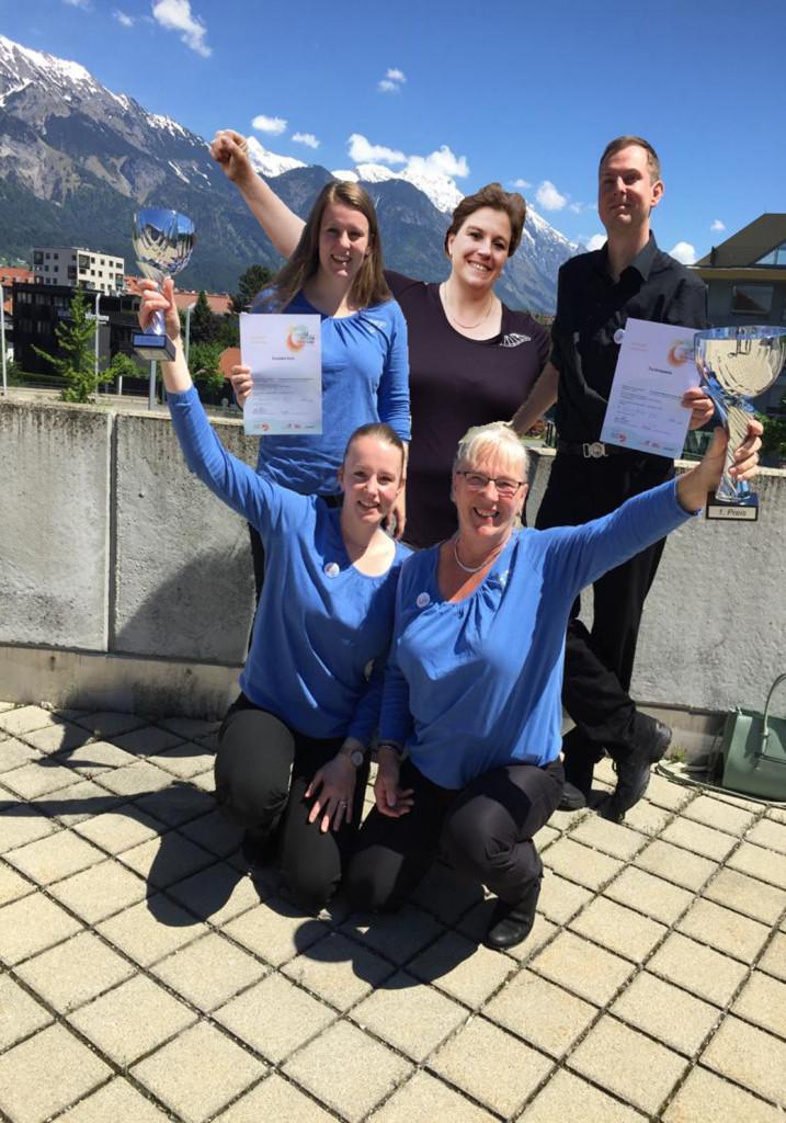 1e en 2e prijs bij World Music Festival in Innsbruck